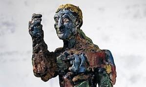 Markus Lüpertz - Clitunno 1990 - Skulptur bronze bemalt