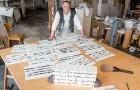 "Making Of Günther Uecker's ""Unalphabetische Zeilen - Nobelpreisbibliothek"" 2012"