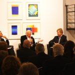 Foto (v.l.n.r.): Stefan Skowron, Prof. Heinz Mack, Prof. Dr. Robert Fleck - Foto © Galerie Breckner GmbH, Düsseldorf 2013