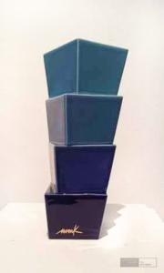 Heinz Mack - Keramik Blau. Edition Nr. 1. Kunstverlag Galerie Till Breckner