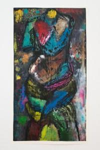 Jim Dine JULY, SUMMER 2014 IV-2014. Holzschnitt 173,9 x 96,8 cm. Kunstverlag Galerie Till Breckner