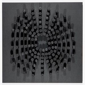 SPIN, Jan Henderikse 2014, Korken auf Holzplatte 60 x 60 cm © Galerie Till Breckner 2015