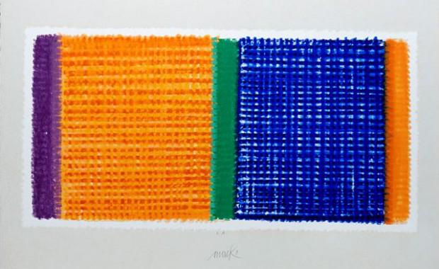Heinz Mack: Links-Rechts, 2013. Druck mit 16 Sieben Blattformat 80 x 110 cm