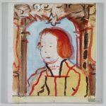 """Toscanelli nach Ambrosius Holbein, """"Knabe mit blondem Haar"""", 25 x 22 cm, Acryl auf Leinwand, 2014. © Courtesy Galerie Till Breckner, Düsseldorf, Foto: Ivo Faber"""