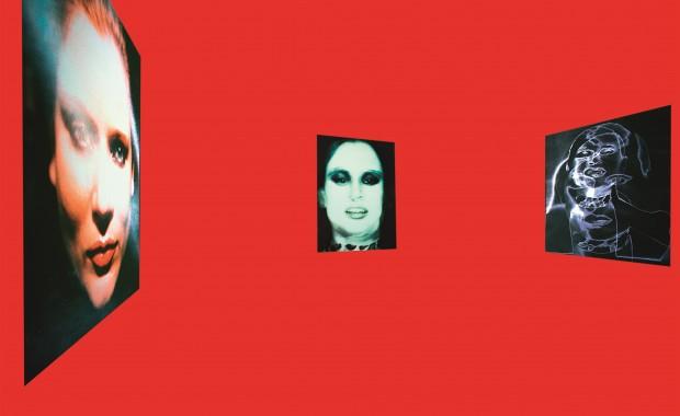 Katharina Sieverding Projected Data Images (RED), 2016 Archival Inkjet Print 112 x 168 cm © Katharina Sieverding, VG Bild-Kunst