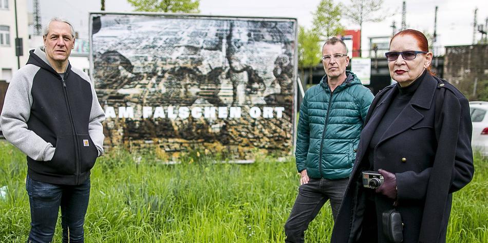 Oliver Ongaro (Stay), Hubert Ostendorf (Fiftyfifty) und Katharina Sieverding (v.l.) machen sich stark für Obdachlose. © RP Online 2017. FOTO: Anne Orthen