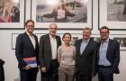 Till Breckner, Fritz Pleitgen, Christiane Hoffmans, Daniel Biskup und Kai Diekmann (v. l. n. r.) Foto: Hojabr Riahi