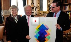 "Präsentation der Heinz Mack Grafik ""Sternblume"""