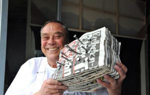 Günther Uecker Atelier Zeitungsblock