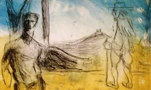 Markus Lüpertz - Vision de Poussin - 2012