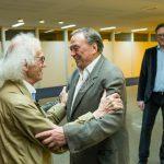 Foto (v.l.n.r.)  Christo und Prof. Günther Uecker