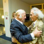 Foto (v.l.n.r.) Prof. Heinz Mack und Christo
