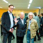 Foto (v.l.n.r.) Till Breckner, Prof. Heinz Mack, Christo