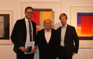 Galerist Till Breckner, Prof. Heinz Mack, Prof. Dr. Robert Fleck