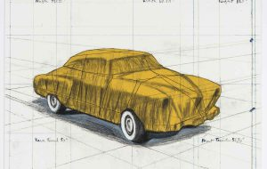 Christo und Jeanne-Claude Wrapped Automobile (Project for 1950 Studebaker Champion, Series 9 G Coupe), 2015