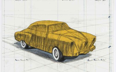 Christo und Jeanne-Claude, Wrapped Automobile (Project for 1950 Studebaker Champion, Series 9 G Coupe), 2015 | Foto: Hilmar Traeger