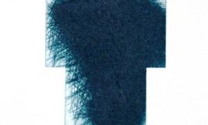 Arnulf Rainer Kreuzradierung blaugrün 2013 Kaltnadelradierung auf Magnesium 50x40 cm