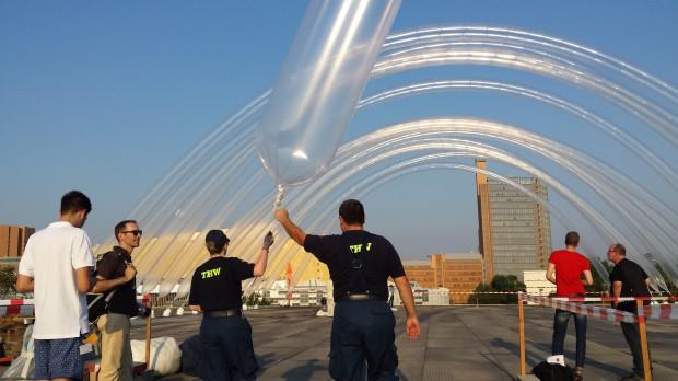 Otto Piene Vorbereitung Sky Art Event