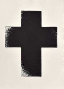 Arnulf Rainer, Dark Green Cross, Radierung, 1992/2014, Format 80 x 60 cm