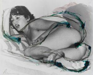 Arnulf Rainer, Ohne Titel, Tusche auf Foto, 1977, Format 50 x 60,4 cm