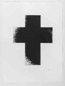 "Arnulf Rainer ""Dark Green Cross"", 1992/2014"