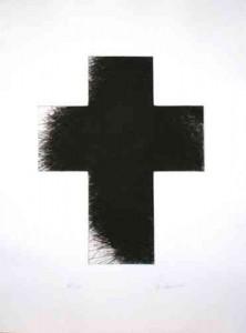 "Arnulf Rainer ""Dark Green Cross"", 1992/2014"