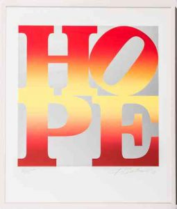 Robert Indiana: Four Seasons of HOPE Book (Silver) I