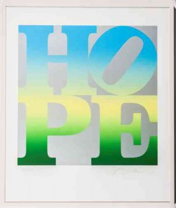 Robert Indiana: Four Seasons of HOPE Book (Silver) IV