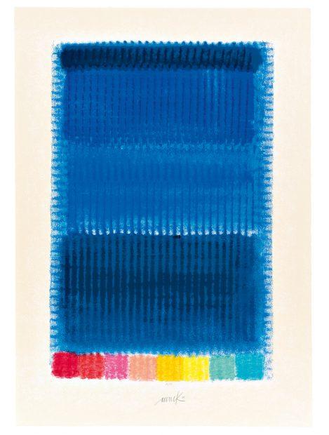 Heinz Mack: Blue Note, Siebdruck 2013, Kunstverlag Till Breckner