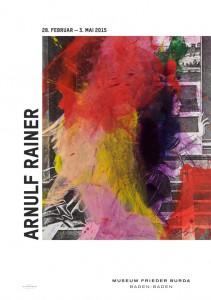 Arnulf Rainer: Plakat zur Ausstellung im Museum Frieder Burda © Atelier Arnulf Rainer
