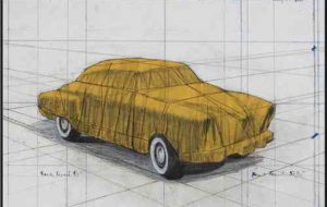 Christo und Jeanne-Claude Wrapped Automobile (Project for 1950 Studebaker Champion, Series 9 G Coupe)