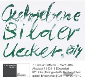Günther Uecker: Geschriebene Bilder. Ausstellung in der Galerie Till Breckner