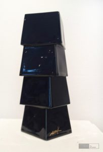 Heinz Mack - Keramik Schwarz. Edition Nr. 1. Kunstverlag Galerie Till Breckner