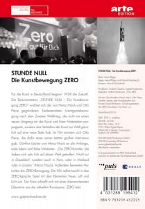 Mack, Piene, Uecker: DVD Stunde Null - Zero. DVD Cover Rückseite. Kunstverlag Galerie Till Breckner