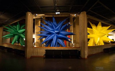 Otto Piene: RAINBOW – Inflatables. TMOCA, Teheran. Photo by Mahnaz Sahaf