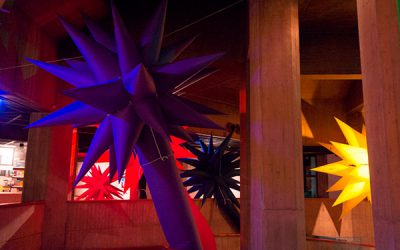 Otto Piene: RAINBOW - Inflatables. TMOCA, Teheran. Photo by Mahnaz Sahaf