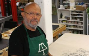 Jim Dine in seinem Studio in Walla Walla, Washington, USA, July 2014. Copyright Courtesy Alan Cristea Gallery. Photo Jason Treffry