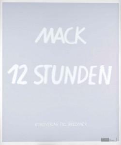 Heinz Mack: 12 Stunden. 2015-2016. Siebdruck 90,7 x 76,1 cm