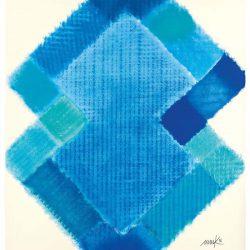 Heinz Mack: Stunde 10. 2015-2016. Druck mit 18 Sieben. 90,7 x 75,6 cm