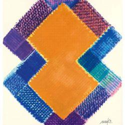 Heinz Mack: Stunde 11. 2015-2016. Druck mit 23 Sieben. 90,7 x 75,6 cm