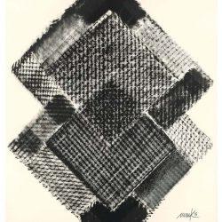Heinz Mack: Stunde 12. 2015-2016. Druck mit 6 Sieben. 90,7 x 75 cm