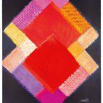 Heinz Mack: Stunde 2. 2015-2016. Druck mit 33 Sieben. 90,7 x 73,7 cm