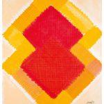 Heinz Mack: Stunde 4. 2015-2016. Druck mit 19 Sieben. 90,7 x 76,1 cm
