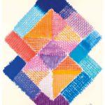 Heinz Mack: Stunde 5. 2015-2016. Druck mit 26 Sieben. 90,7 x 75,3 cm