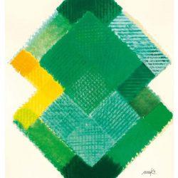 Heinz Mack: Stunde 7. 2015-2016. Druck mit 21 Sieben. 90,7 x 74,6 cm