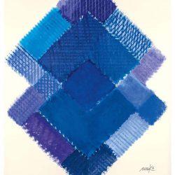 Heinz Mack: Stunde 8. 2015-2016. Druck mit 20 Sieben. 90,7 x 74,8 cm