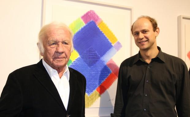 Heinz Mack und Moritz Führmann © Wefelnberg / Rheinische Post
