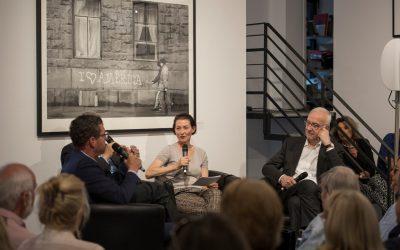 Kai Diekmann, Christiane Hoffmans und Fritz Pleitgen (v. l. n. r.). Foto: Hojabr Riahi