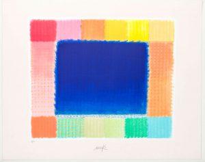 Heinz Mack Grafik Kunstwerk Blue Field
