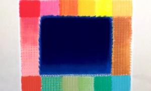 MAC0645-Heinz Mack-Blue Field-2016-Druck mit 35 Sieben-72 x 90 cm